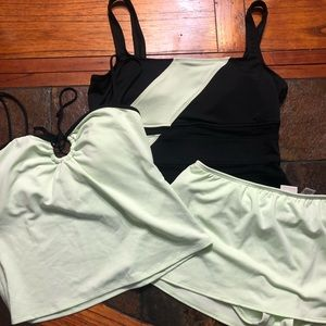 Merona | Swimwear | two tops & Bottom | sz L